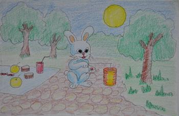 秋天的图画儿童绘画 儿童绘画图画